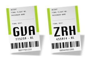 Airport bag tags - Switzerland
